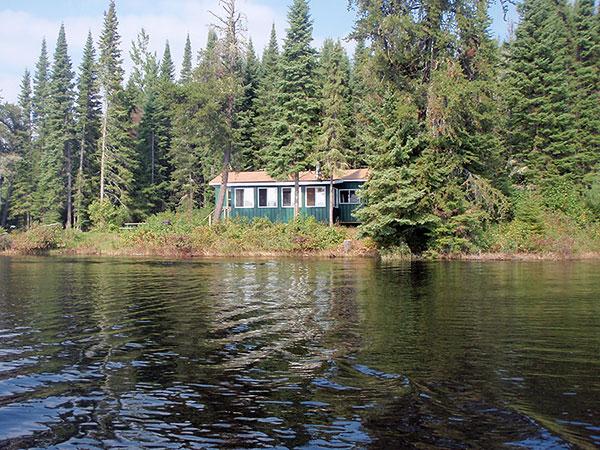 remote fishing cabin on slate lake ontario canada